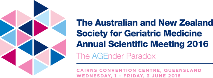 ANZSGM ASM 2016The AGEnder Paradox - Cairns Convention Centre, QLD 1 - 3 June 2016